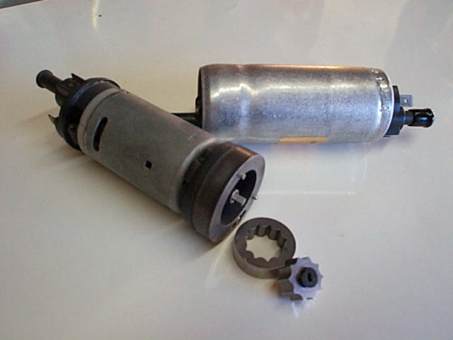 Electric Fuel Pump Internal View